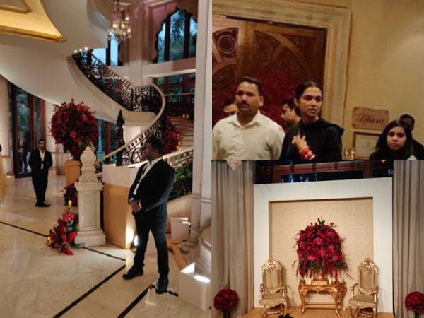 Deepika Padukone & Ranveer Singh Reception: Deepika Arrives At The Venue To Oversee The Preparations
