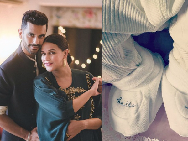 Neha Dhupia- Angad Bedi Name Their Baby Girl 'Mehr'; Share Her First Cute Glimpse!