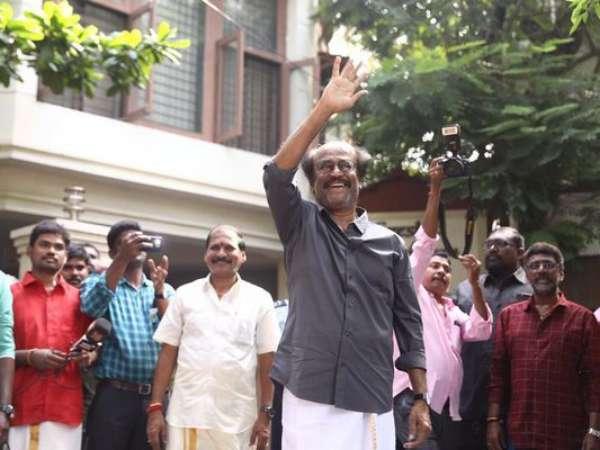 Diwali 2018 Rajinikanth Meets His Fans Wishes Them Happy Diwali