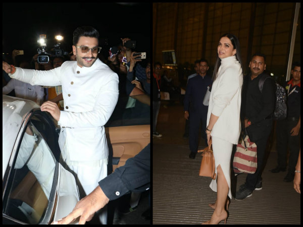 ALL SET FOR THE WEDDING! Deepika Padukone & Ranveer Singh Leave For Italy & They're Glowing [PICS]