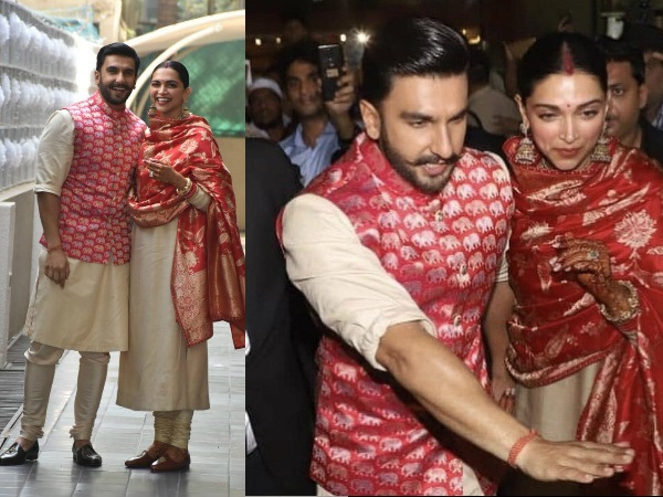 Newlyweds Ranveer Singh & Deepika Padukone Return Back To Mumbai [SEE AIRPORT PICS]