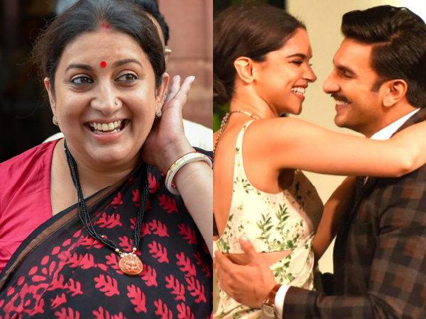 Smriti Irani Trolls Deepika Padukone & Ranveer Singh For Not Sharing Their Wedding Pictures!