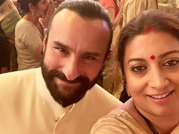 Smriti Irani Shares Selfie With Saif Ali Khan Says His Advice 23 Years Ago Helped Her Career