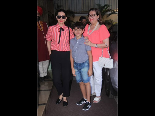 Karisma Kapoor With Son Kiaan