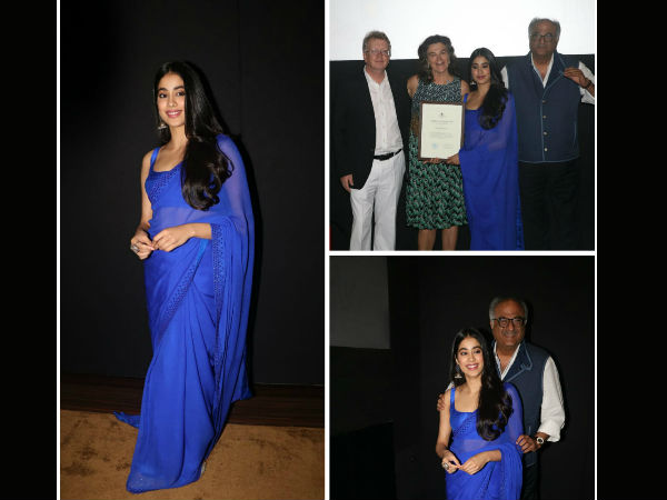 Janhvi Kapoor In a Desi Avatar As She Receives 'Rising Talent Of The Year' Award!