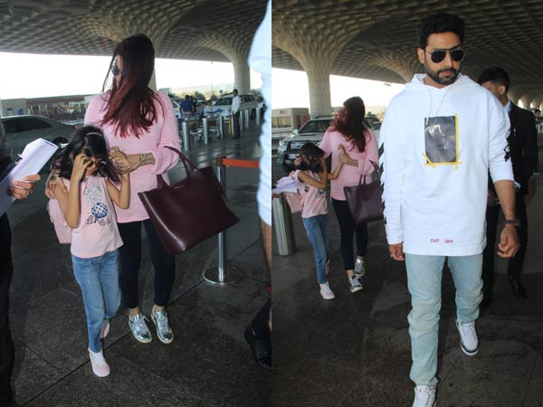 The Bachchans Spotted At The Airport