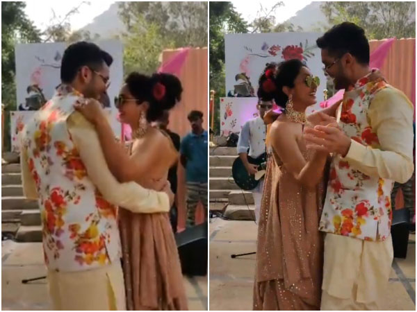 Diganth And Aindrita Ray Have A Blast At The Haldi Ceremony; Inside Pics Out