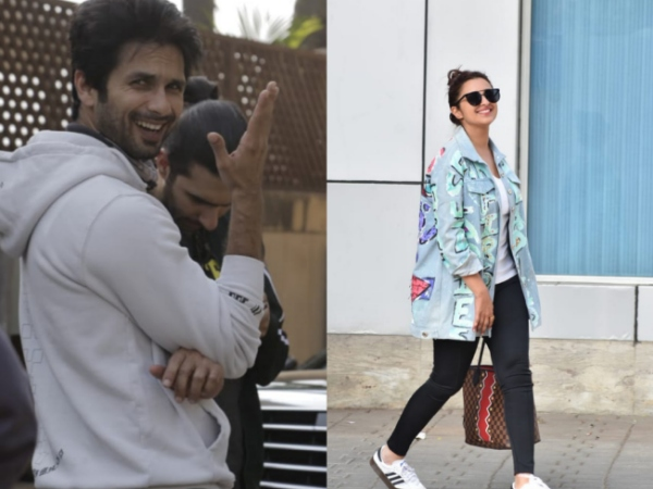Spotted! Shahid Kapoor Goes For Bike Ride, Parineeti Chopra Smiles And Waves For Cameras