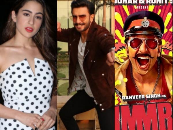Simmba Actors Ranveer Singh & Sara Ali Khan, Director Rohit Shetty At Simmba Promotions