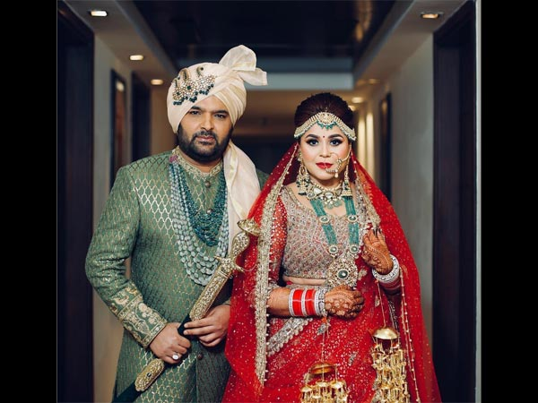 Kapil Sharma & Ginni Chatrath's First Wedding Picture Revealed; Couple's Royal Look Is A Must See!
