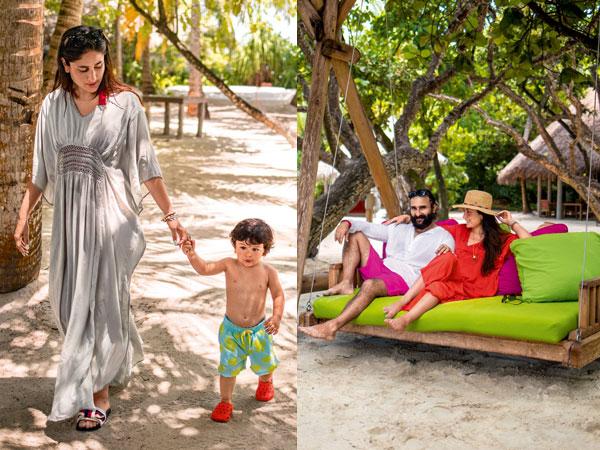 Unseen Pics From Taimur's Maldives Vacation: The Tiny Tot Chills With His Parents Saif-Kareena!