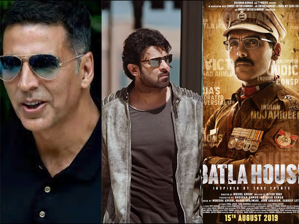 Prabhas' Saaho To Clash With Akshay's Mission Mangal & John's Batla House On Independence Day 2019!