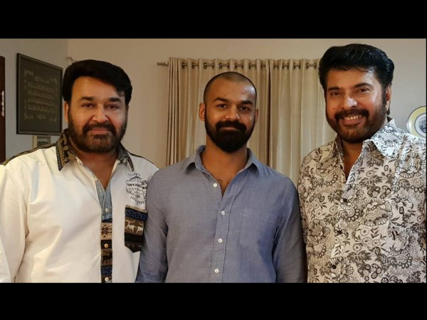 When Mohanlal & Pranav Mohanlal Visited Mammootty's House