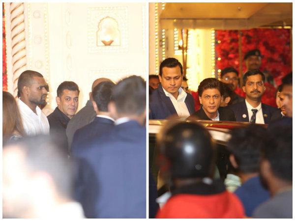 Shahrukh & Salman Khan Arrive At Isha Ambani & Anand Piramal's Wedding Ceremony!