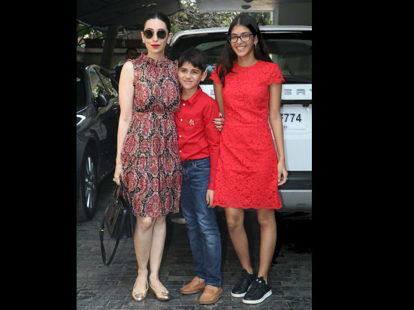 Karishma Kapoor And Kids At Family Christmas Brunch