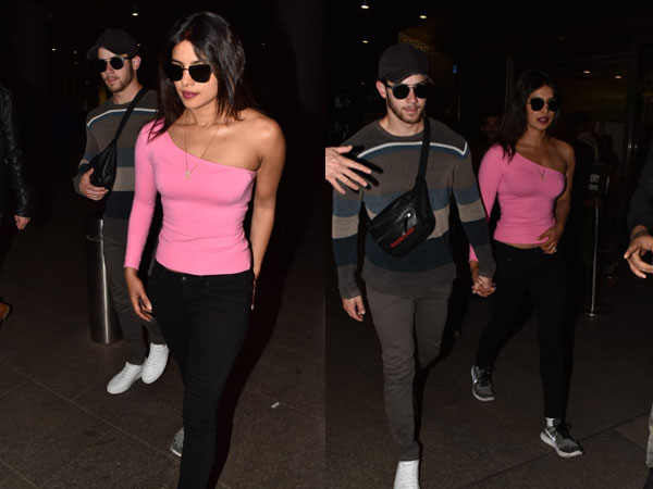 Newlyweds Priyanka Chopra And Nick Jonas Spotted At Mumbai Airport After A Short Honeymoon
