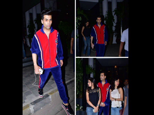 Karan Johar Is Spotted Hanging Out With Friends At Popular Juhu Club