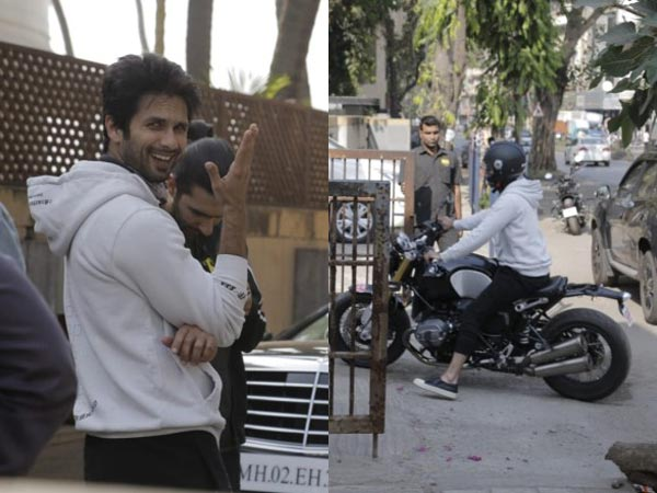 Shahid Takes A BMW Bike For A Spin!