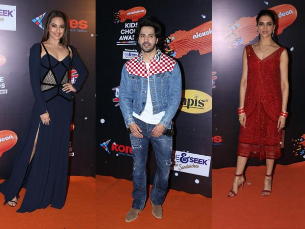 Kids Choice Awards 2018: Bollywood Heartthrobs Deepika, Varun, Alia, Sonakshi Dazzle On Red Carpet!