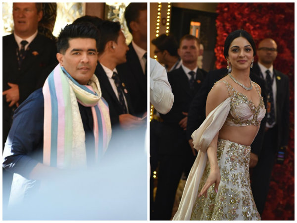 Kiara Advani & Manish Malhotra Arrive At Isha Ambani's Wedding Ceremony! View Pictures