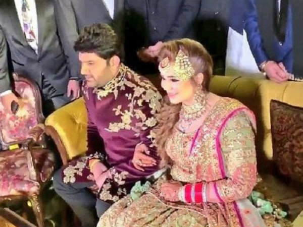 Kapil Sharma Ginni Chatrath's Wedding Reception First Picture; It's Going To Be A Star-lit Affair!