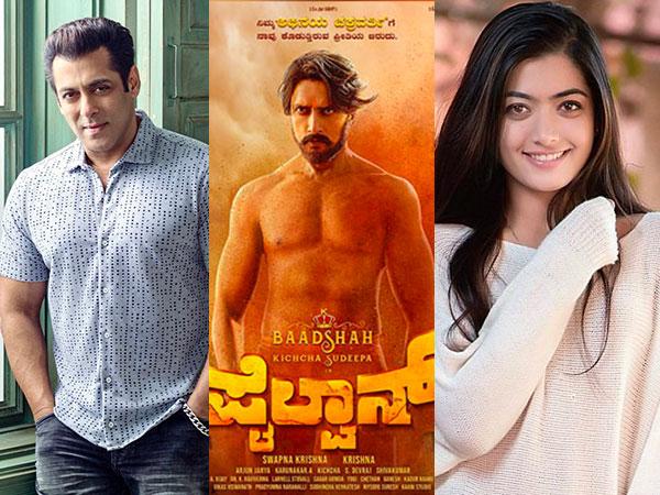 Salman Khan Rashmika Other Stars Congratulate Kichha Sudeep Fans Compare Pailwaan With Kgf