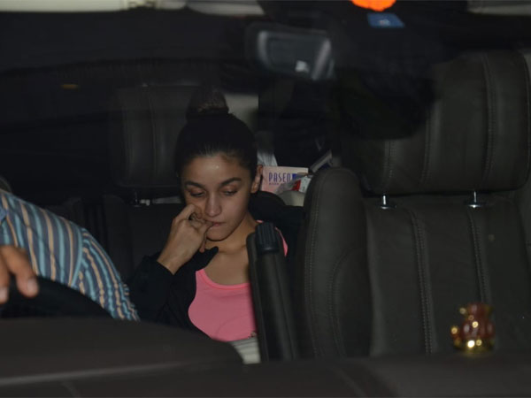 Alia Snapped At Karan Johar's House
