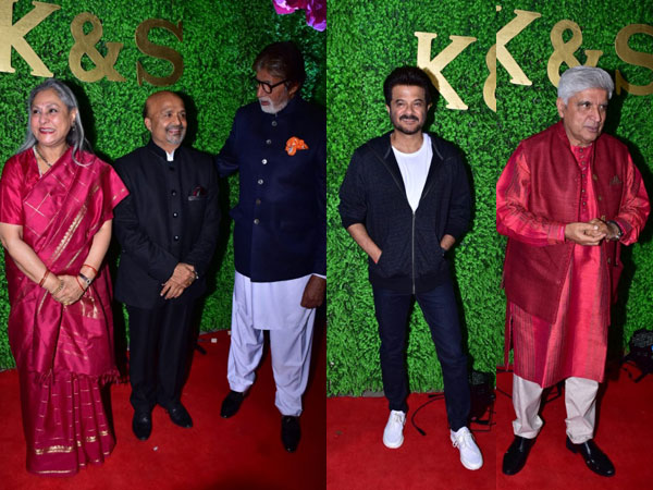 Amitabh-Jaya Bachchan, Anil Kapoor, Javed Akhtar Arrive At Sameer Anjaan's Daughter's Wedding