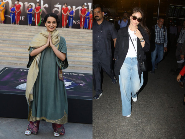 Kangana Ranaut Oozes Grace At Manikarnika Song Launch; Kareena Kapoor Rocks Baggy Jeans At Airport