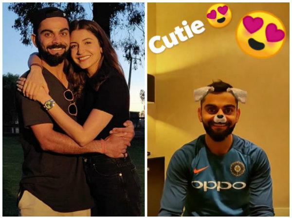 So Funny! Anushka Sharma Puts A Doggy Filter On Husband Virat Kohli's Face