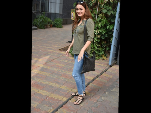 Dia Mirza Snapped Outside Book Store