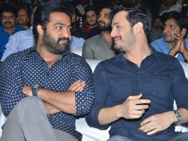 Mr Majnu Pre-release Event: Jr NTR And The Akkineni Trio Attend The Grand Function; View Pics