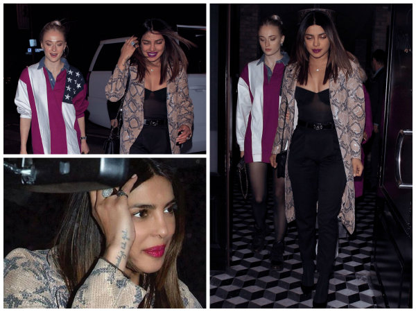 So Stunning! Priyanka Chopra & Sophie Turner Head Out For A Dinner Date In Los Angeles! View Pics