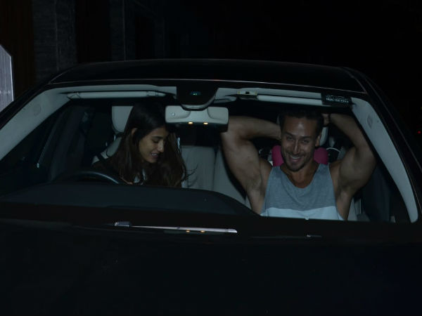 Pics! Disha Patani Dropped By Tiger Shroff's House And The Two Headed Out For A Late Night Drive