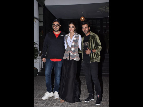 Kriti, Rajkummar & Dinesh Head Out