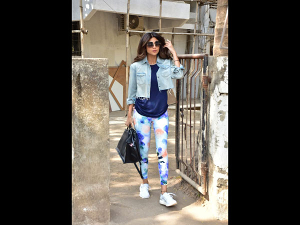Shilpa Shetty Spotted At A Salon