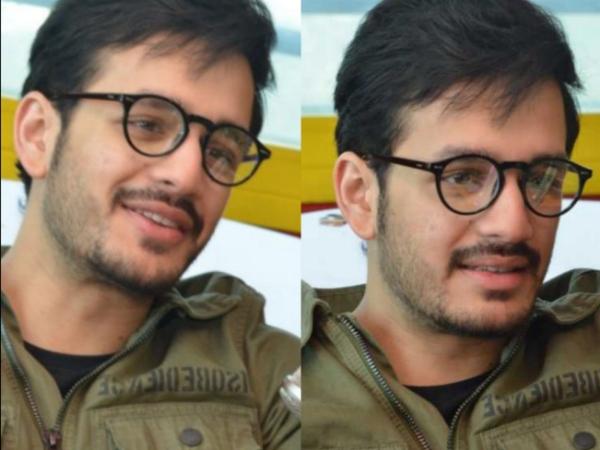 A Smart And Charming Akhil Akkineni Promotes Mr Majnu; View Pics