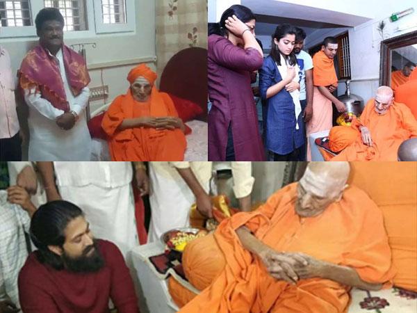 BREAKING! Shivakumara Swamiji Passes Away; UNSEEN Pics Of Kannada Actors With Nadedaduva Devaru