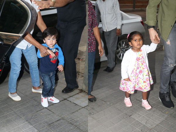 Taimur & Sunny Leone's Daughter Nisha Attend Kiddie Party At Soha Ali Khan's House