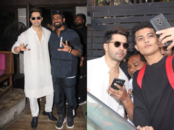 Varun Dhawan Spotted Posing For Selfies With Fans After Wrapping Kalank's Shoot