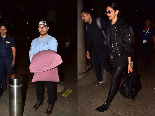 Deepika Padukone's Rocker-Chic Airport Look; Aamir Khan Carries A Pillow To Snuggle For His Travel