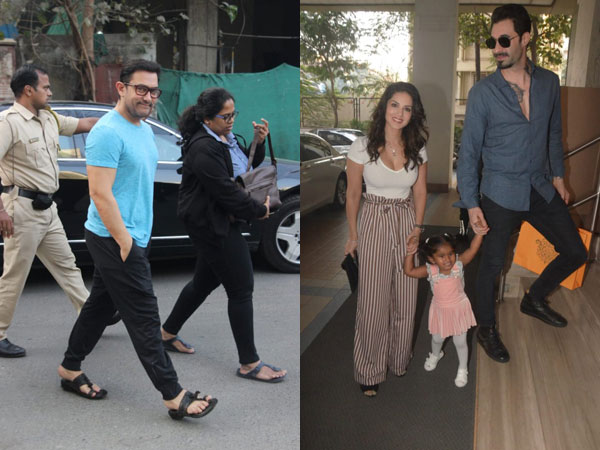 Aamir Khan Treats Himself To A Spa Session; Sunny Leone & Her Family Were Snapped At A B'day Party