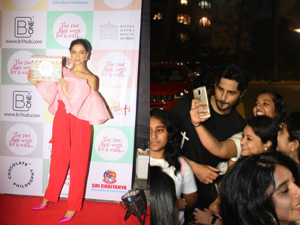 Deepika Padukone Launches Children's Book With Her Story; Sidharth Malhotra Takes Selfies With Fans