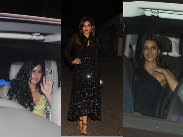 Sidharth Malhotra's Star-Studded Birthday Party; Katrina, Kriti Sanon, Raveena Tandon Attend!