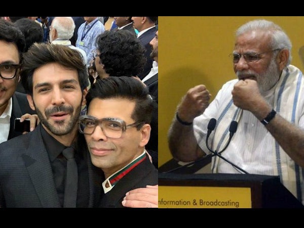 PM Modi Asks, 'How's The Josh?' At A B-Town Event, Later Reacts To Kartik Aaryan's 'Backfie' Photo!