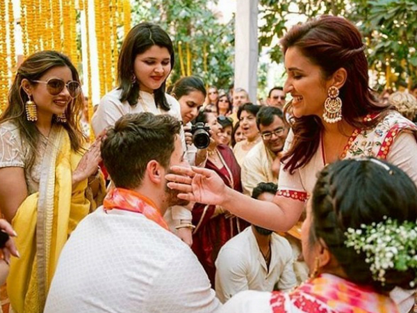 Unseen Pics From Priyanka Chopra's Wedding: Parineeti Chopra Applies Haldi To 'Jiju' Nick Jonas!