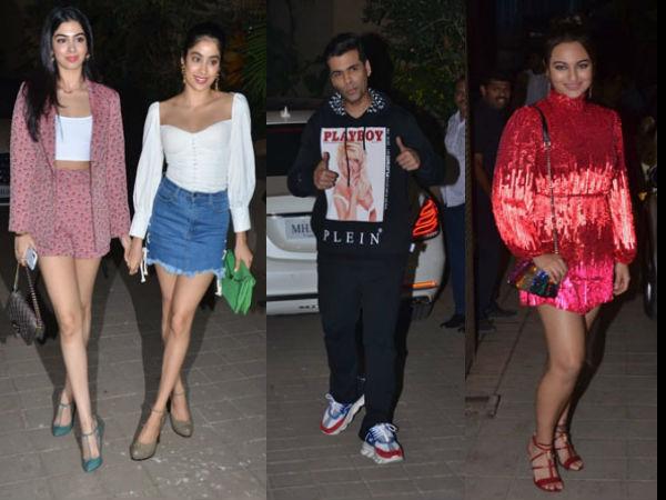Janhvi & Khushi Kapoor, Karan Johar, Sonakshi Sinha Attend Punit Malhotra's Bash