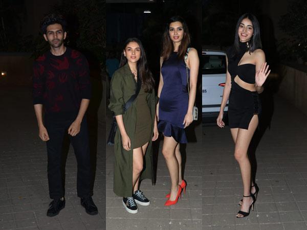 Ananya Pandey Kartik Aaryan Diana Penty Aditi Rao Hydari Punit Malhotra Valentines Day Party