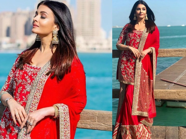 Aishwarya Rai Bachchan Is A 'Beauty In Red' In These Pics From Doha; Be Prepared To Lose Your Hearts