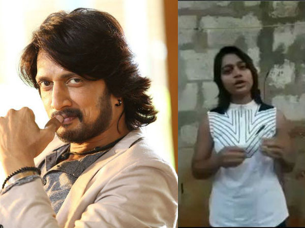 Sudeep's Female Fan Gets Him Emotional By Doing This; Pailwaan Actor Goes To Meet Her!